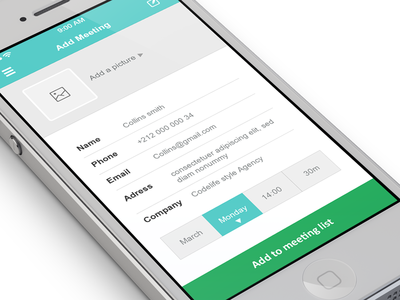 Business Flat Mobile UI Kit