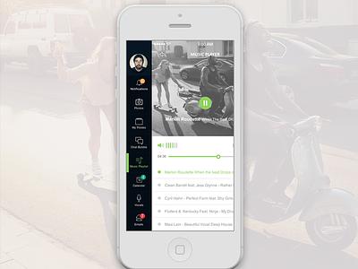 Flaty's side menu app app element app flat app kit app ui calendar dashboard flat element
