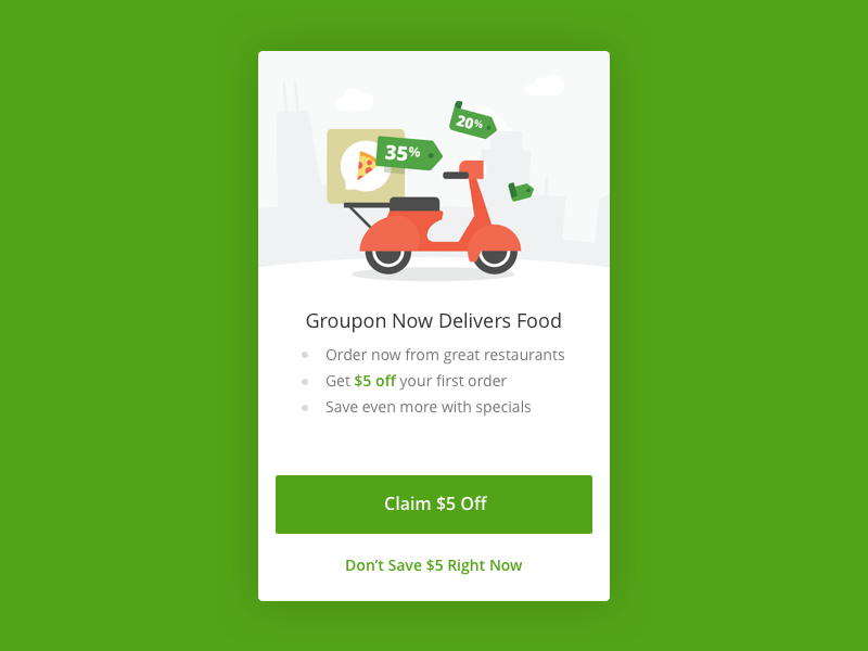 Groupon Delivery & Takeout by Groupon Design Union on Dribbble