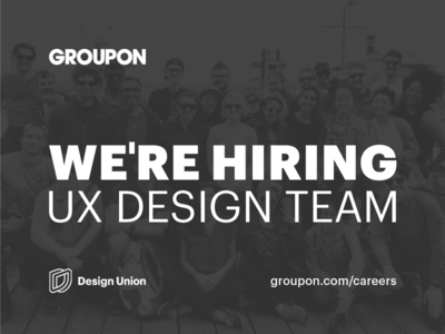 Join our team! user experience product design web mobile ux team hiring jobs content