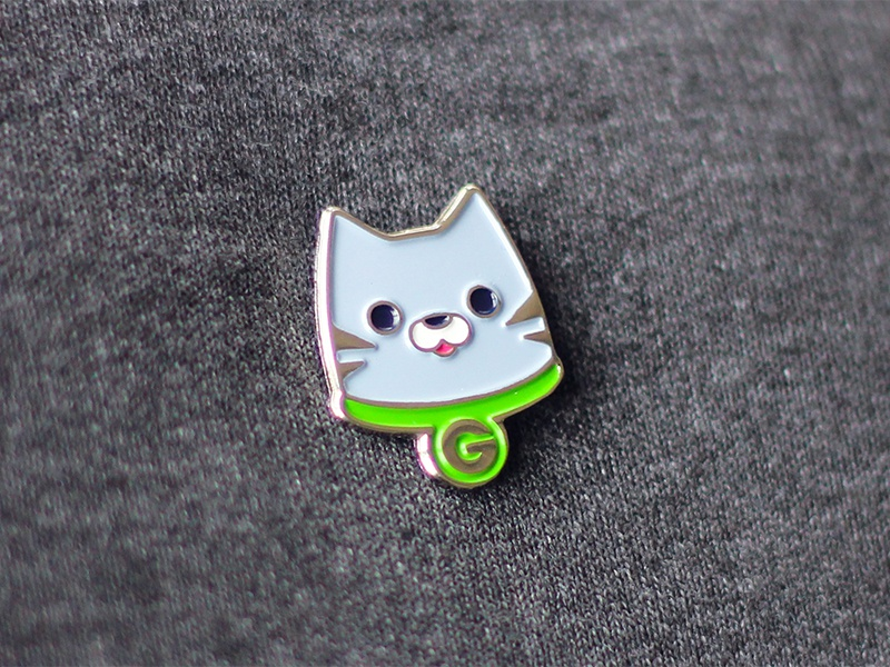 Groupon Cat Pin design mascot cat pin enamel