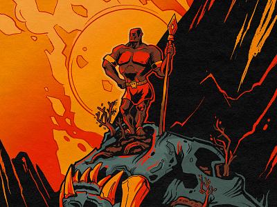 Hero 💀 bright color characterdesign skull superhero hero art comics illustration character