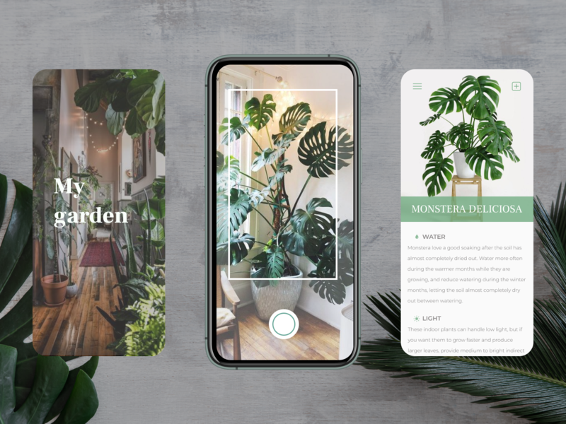 my garden mobile app ux ui