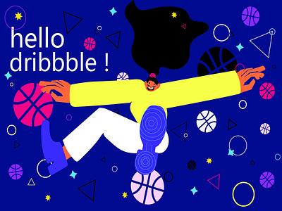 Hello Dribbble ! debuts graphic design illustration