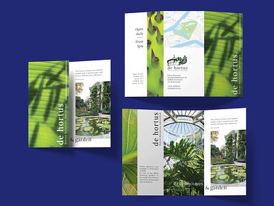 Hortus Botanicus Amsterdam - Brochure print design graphic design brochure design brochure design