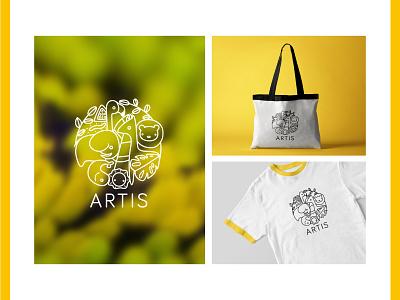 Artis - Logo illustration logo design logotype branding vector logo graphic design