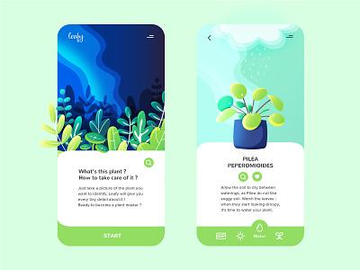 Leafy - Mobile app for Plant Lovers ! app design app ui plant illustration plants plant mobile app design mobile ui mobile app mobile app icon flat vector visual design ui design ui illustration graphic design