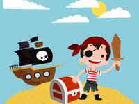 T-shirt little pirate