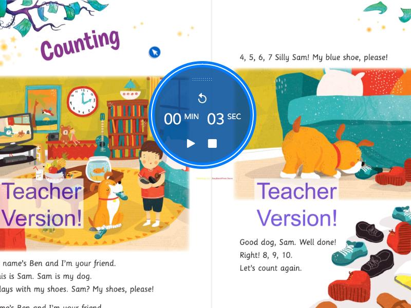 Web App digital book canvas + JavaScript timer front-end
