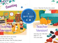 Web App digital book canvas + JavaScript timer