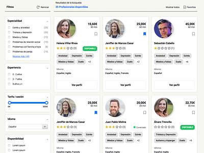 Psicólogos online web design front-end
