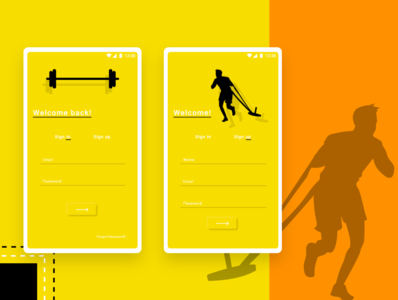 Gym app Log in & Sign up Screen's