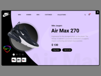Nike Air max Landing Page Redesign