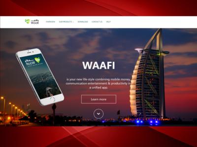 Waafi Landing Page