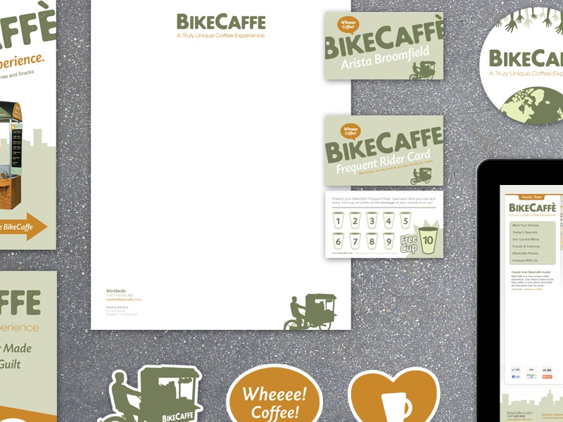The bikecaffe branding preview