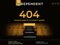 404 Page Design - inDEPENDENT culture theatre graphic design ui romania error page 404page 404 website builder web design website web