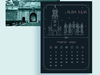 2020 Calendar Design - March