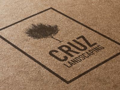 Cruz Landscaping Logo logo tree tan hispanic landscaping