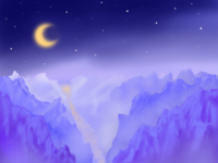 Mountains Landscape by night