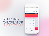 Daily UI #004 - Shopping calculator (app screen)