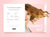 Simple contact page