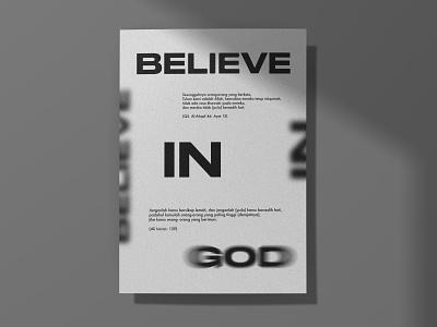 BELIEVE IN GOD card graphicdesign greetingcard typography vector font designer branding layoutdesign design posterdesign poster art poster