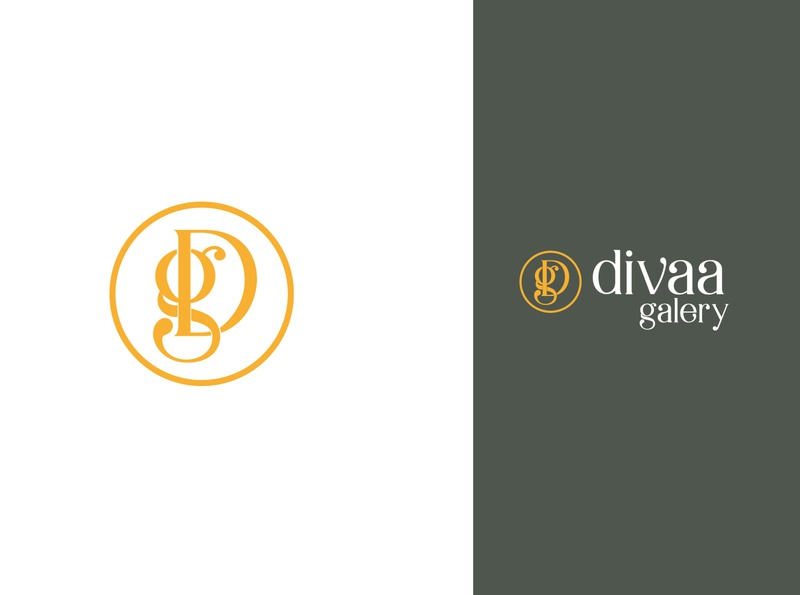 diva galery logo galerie store logodesign logotype brand identity branding logo design