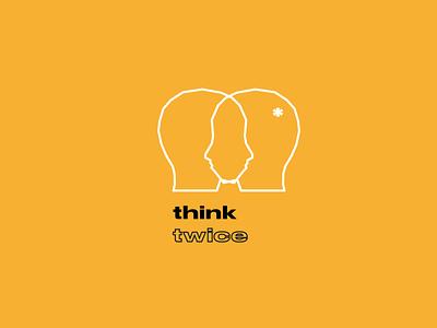 think twice logo ( for sale ) vector illustration design graphicdesign designer logo design logos brand brand identity branding logodesign logotype