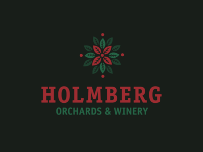 Holmberg Winery leaves winery orchard wine logo