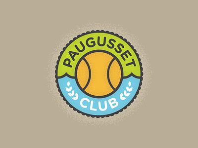 Paugusset Club grass tennis swimming water club fitness logo