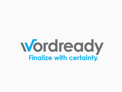 Wordready editing draft final checkmark proof reading spelling logo
