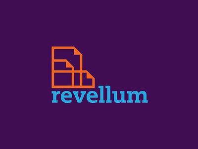Revellum Papers drawing writing premium paper logo