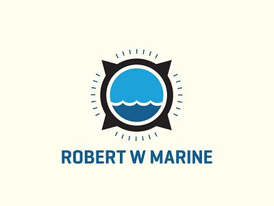Rw Marine parking boat water marine logo