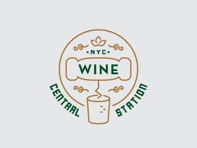 Wine Central Station station alcohol bottle opener cork wine app logo