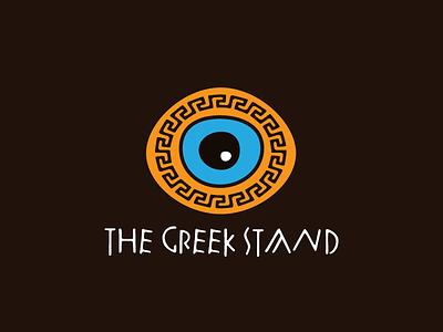 The Greek Stand nazar charm maze pattern evil eye greek logo
