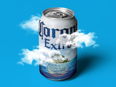 A Beach In Every Can island can packaging ocean design corona beer beach