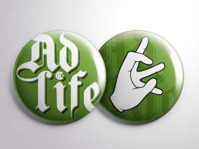 #adlife at CK chicago advertising type illustration button sign hand cramer-krasselt ck adlife