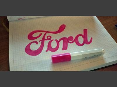 Ford Logo Lettering stasdodesign script wordmark branding typography logotype logo handlettering hand drawn calligraphy lettering
