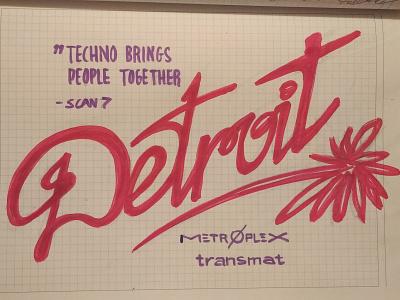Deeeeetroit. No Place Like Home. illustration design stasdodesign script handlettering wordmark logo lettering hand drawn calligraphy