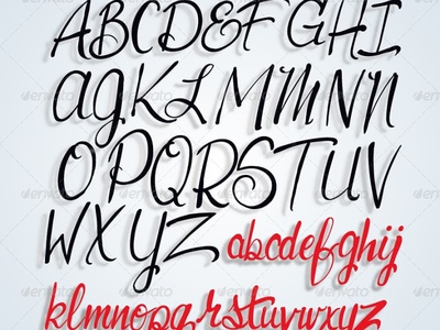 The typographic font uLook. script font design stasdodesign lettering hand drawn calligraphy