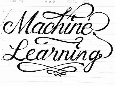 Machine learning script lettering illustration script design branding logotype wordmark stasdodesign hand drawn lettering calligraphy
