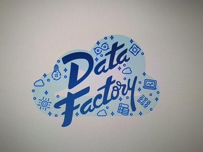Data Factory for Machine Learning stasdodesign idea cpu devops developers agile database cloud ml wordmark typography type script logotype logo lettering handlettering hand drawn calligraphy branding