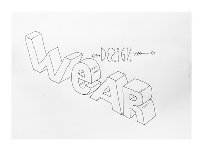 WeAR design. Design for AR technologies. illustration art wear-design weardesign weardesign illustration design wordmark typography logo lettering logotype calligraphy handlettering hand drawn branding