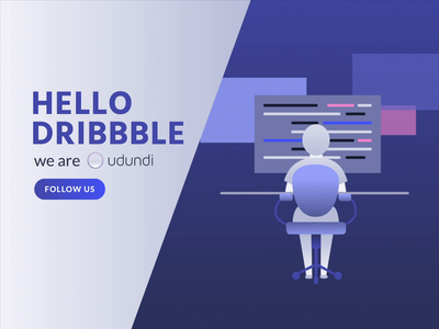 Hello Dribbble! - Udundi vector after effects first post web motiongraphics design illustration animation uiux ui web design hello dribble