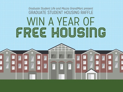 Free Housing, Anyone? vector illustration housing apartment ad advertisement outdoors raffle color