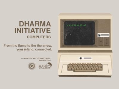 Vintage Dharma Ad dharma vintage lost tv television vector illustration dharma initiative computer
