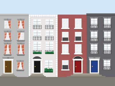 Apartments in Dublin dublin ireland housing apartments vector illustration detail fun