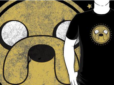 Jake, Adventure Time adventure time jake finn design shirt cute grunge texture illustration dog puppy