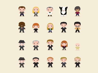 Fringe Character Illustrations illustration fringe tv television people cute design characters