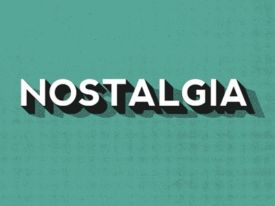 Vintage Type vintage typography retro bold type font green